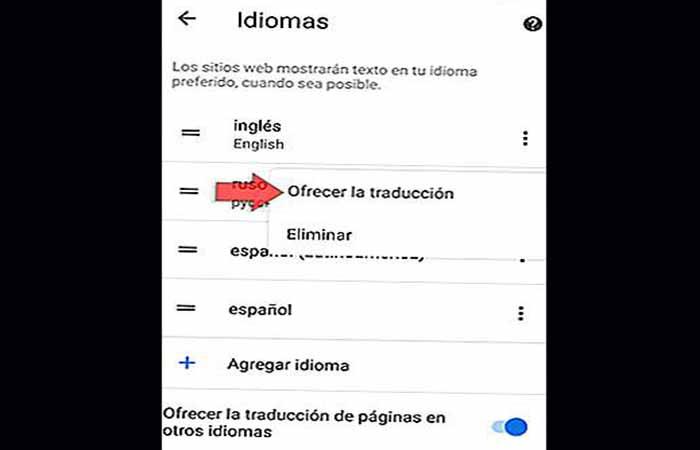 Google Chrome Translator für Android