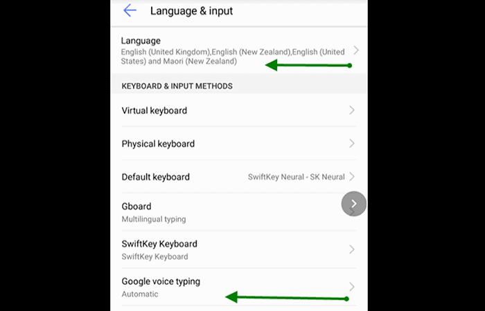 Sprachbefehl unter Android