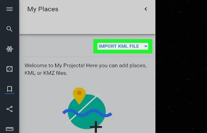 KML-Datei importieren