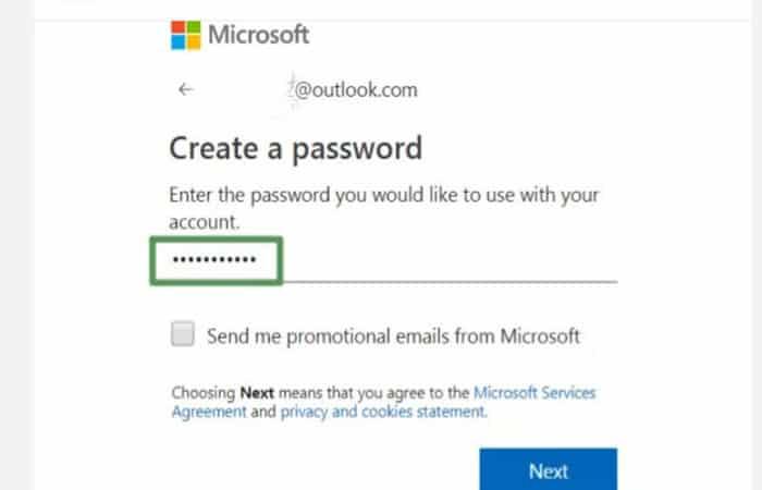 Geben Sie Ihr gewünschtes Passwort ein.