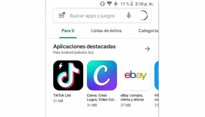 Öffnen Sie den Google Play Store