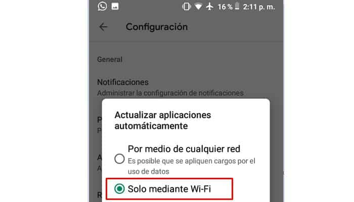 Apps nur über WLAN automatisch aktualisieren