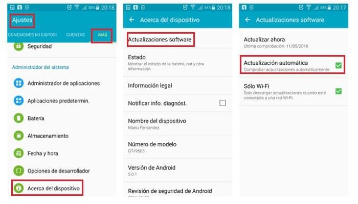 Automatisches Update auf Android aktivieren