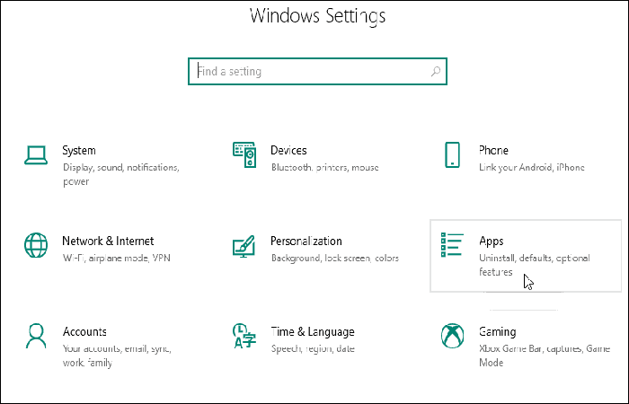 Windows 10-Anwendungsmenü