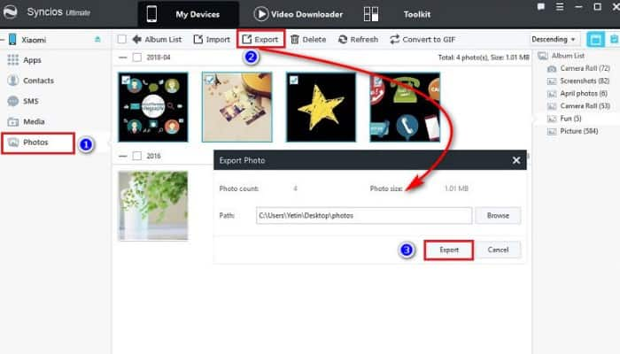 So übertragen Sie Fotos von Xiaomi auf den Computer