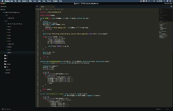 Software zur Programmierung in C Sublime Text