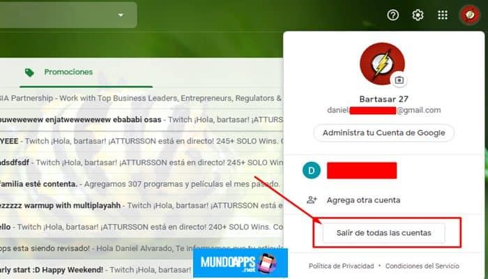 Verknüpfung eines Gmail-Kontos jetzt aufheben