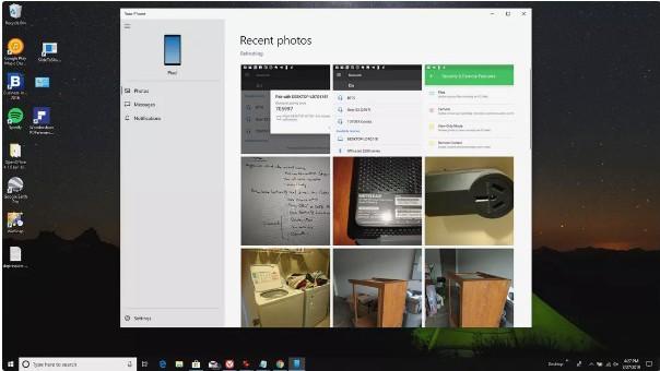 Bildschirm zum Anzeigen von Fotos auf Android von Ihrem Computer