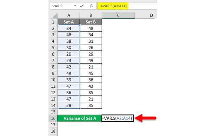 Wie erhalte ich die Varianz in Excel?  22