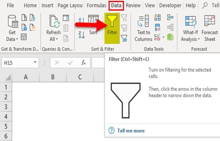 Wie füge ich Filter in Excel ein?
