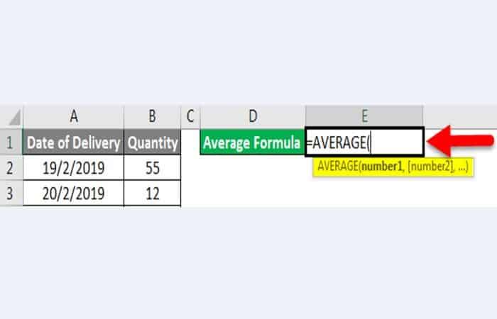 So berechnen Sie einen Durchschnitt in Excel 13