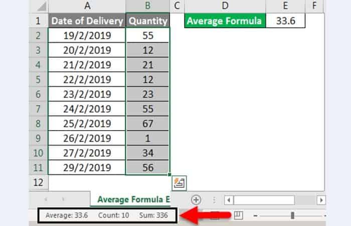 Wie man einen Durchschnitt in Excel 12 nimmt