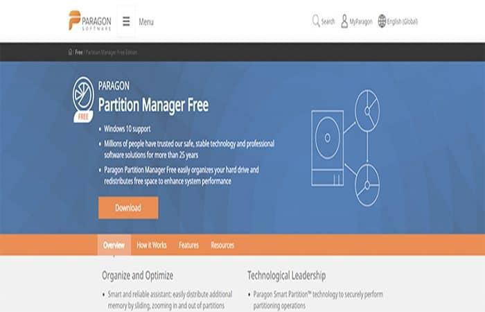 gestionnaire de partition paragon gratuit