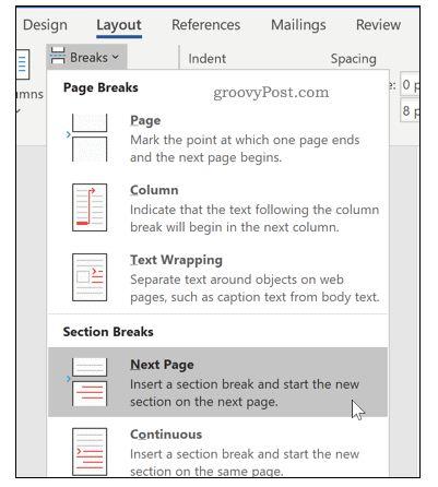 Wie man horizontale Seiten in Word Schritt für Schritt einfügt 16