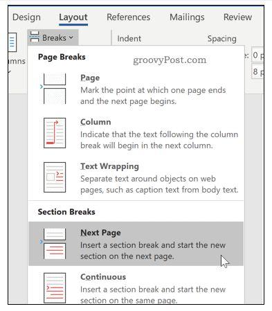 Wie man horizontale Seiten in Word Schritt für Schritt einfügt 18