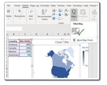 So erstellen Sie eine Karte in Excel von Null 10