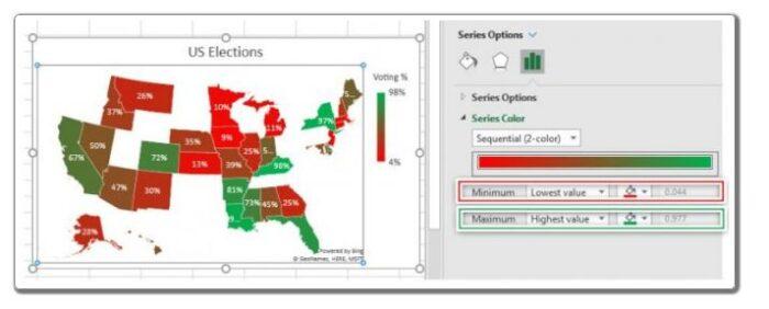 So erstellen Sie eine Karte in Excel