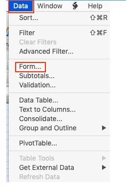 So erstellen Sie ein Formular in Excel 19