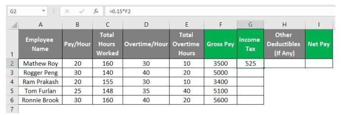 So erstellen Sie eine Gehaltsabrechnung in Excel 20