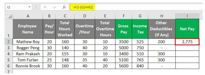 So erstellen Sie eine Gehaltsabrechnung in Excel 23