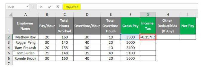 So erstellen Sie eine Gehaltsabrechnung in Excel 19