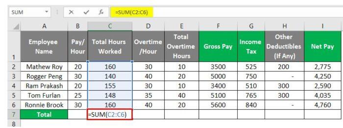 So erstellen Sie eine Gehaltsabrechnung in Excel 25