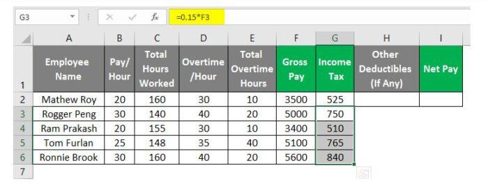 So erstellen Sie eine Gehaltsabrechnung in Excel 21