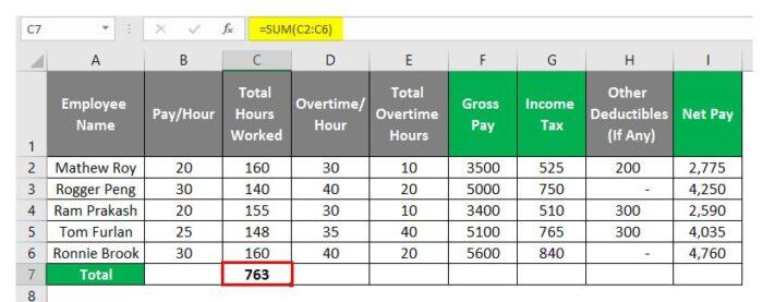 So erstellen Sie eine Gehaltsabrechnung in Excel