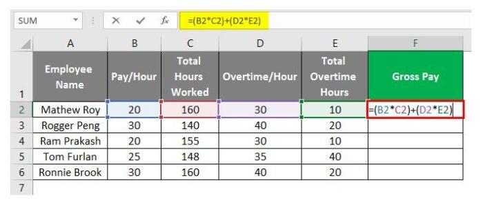 So erstellen Sie eine Gehaltsabrechnung in Excel 16