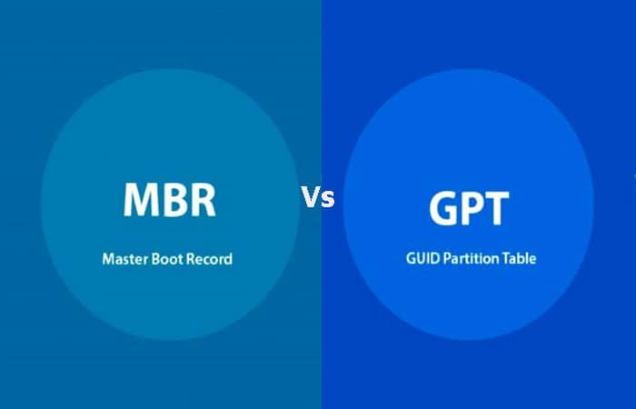 Was ist der Unterschied zwischen MBR und GPT.  -Leitfaden 2021
