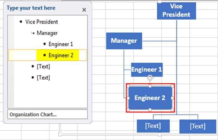 So erstellen Sie ein Organigramm in Excel 12