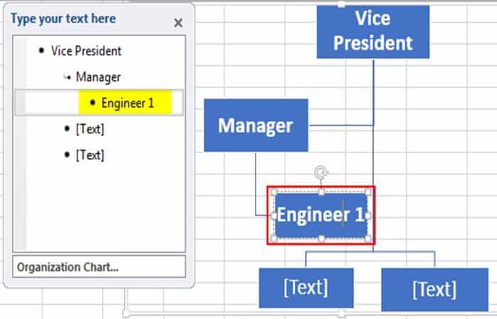 So erstellen Sie ein Organigramm in Excel