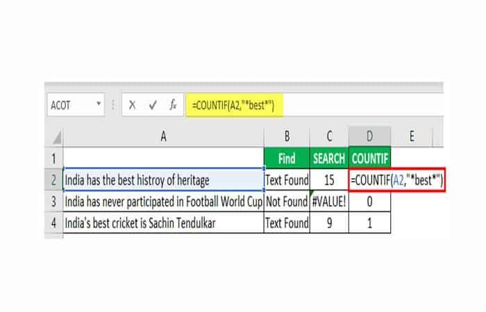 So finden Sie ein Wort in Excel.  38