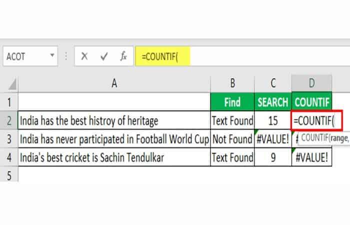 Wie man ein Wort in Excel nachschlägt