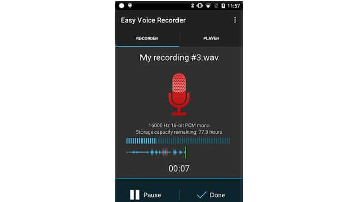 Einfacher Sprachrekorder