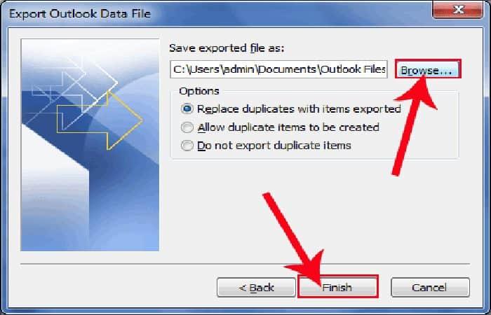 So sichern Sie Outlook 15