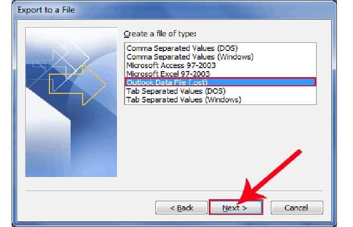 So erstellen Sie ein Backup in Outlook 14