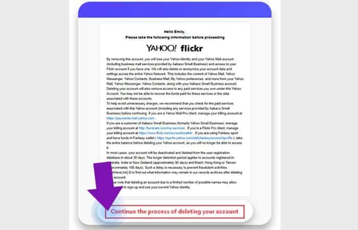 Come eliminare un account Yahoo