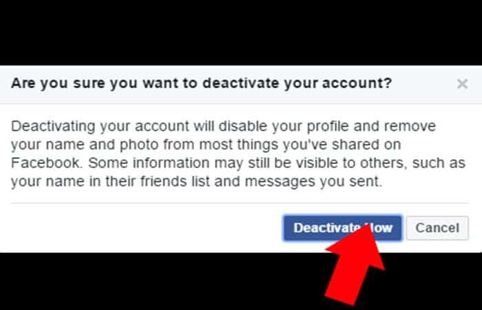 Come disattivare il tuo account Facebook.  Tutorial 2021