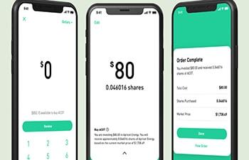 App zum Investieren in den Robinhood-Aktienmarkt