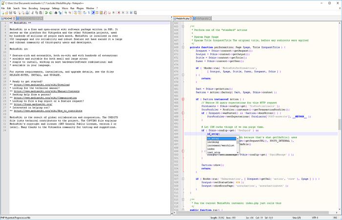 Notepad ++ Software