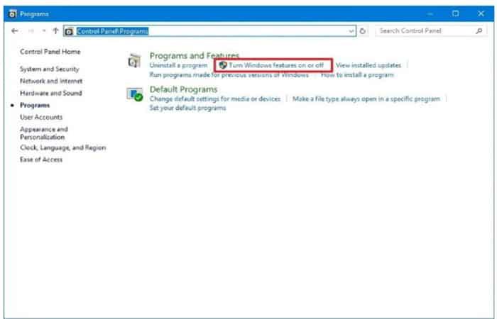 Windows 10-Funktionen aktivieren