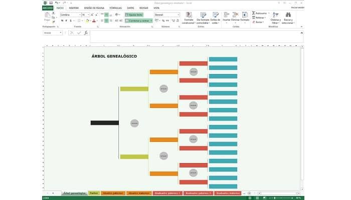 So erstellen Sie einen Stammbaum in Excel.  Tutorial 2021