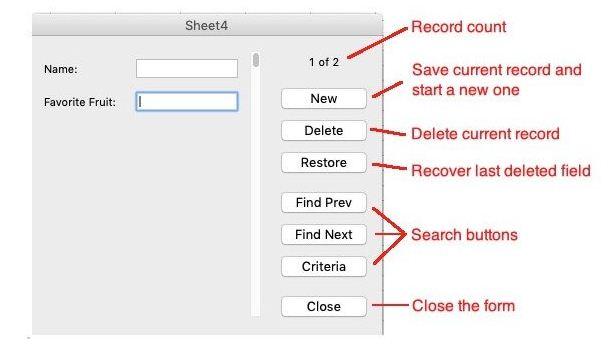 So erstellen Sie ein Formular in Excel