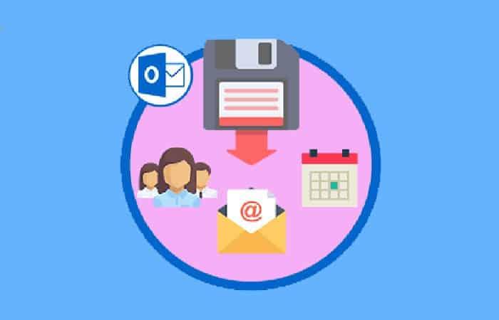 So erstellen Sie ein Backup in Outlook.  Tutorial 2021