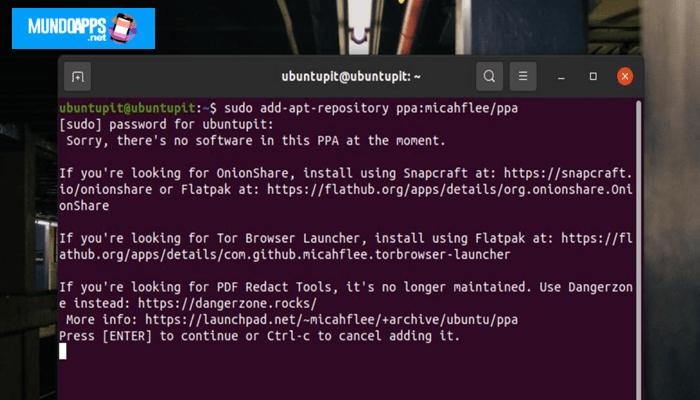Tor-Browser über PPA installieren