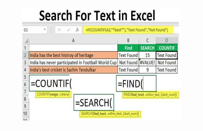 So finden Sie ein Wort in Excel.  Tutorial 2021. Mundoapps