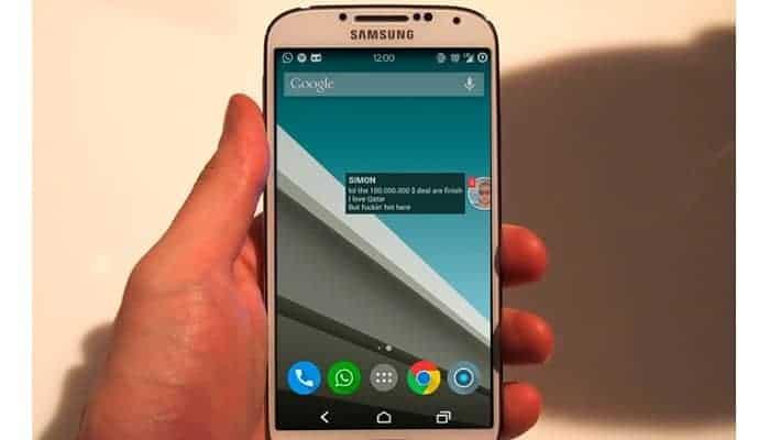 So erhalten Sie Chat Bubble Messaging Style für Android