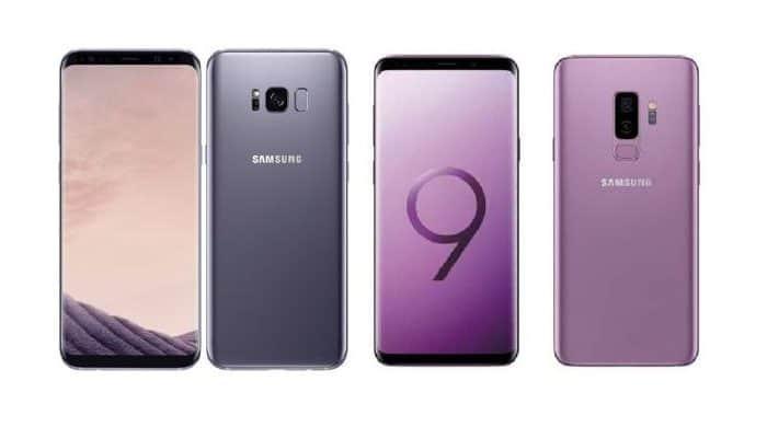 Vergleich Samsung Galaxy S8 und S9.  Aktualisiert 2021