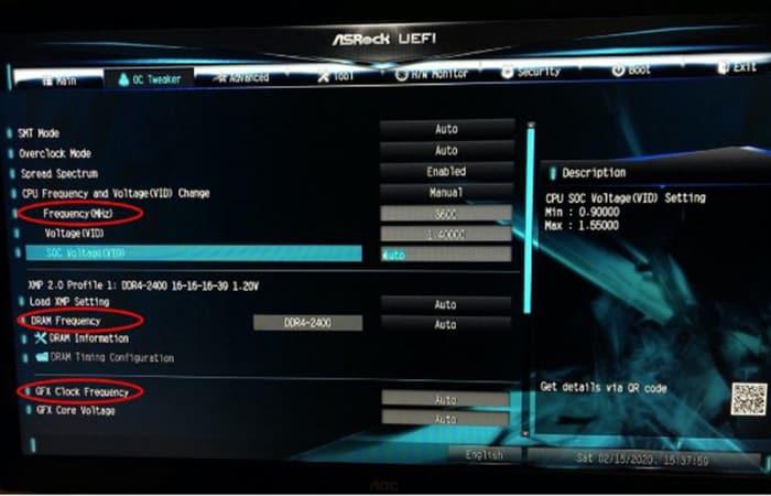 Übertaktung von BIOS-Komponenten